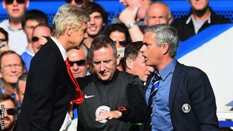 Arsenal manager Arsene Wenger (left) and Chelsea boss Jose Mourinho