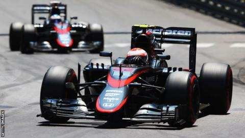 0f4792b8 McLaren. Button (front) and Alonso are 16th and 17th respectively in the  drivers' standings