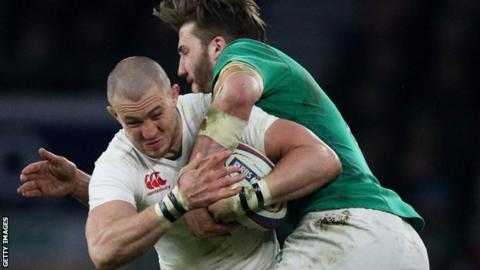 Mike Brown in action for England against Ireland