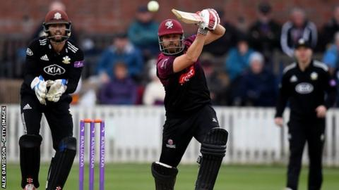 Jamesmy Hildreth passed 50 for Somerset for the 33rd time in one-day cricket