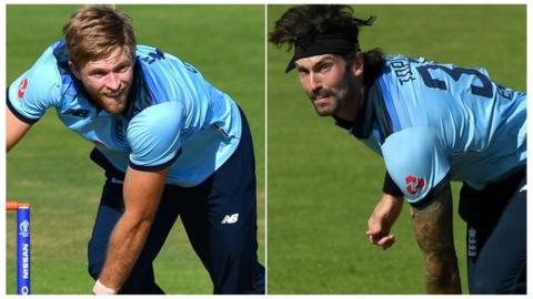 india David Willey and Reece Topley