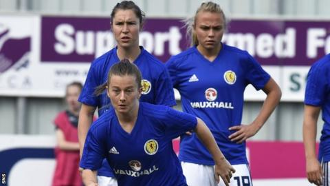 Christie Murray (front), Jane Ross and Claire Emslie