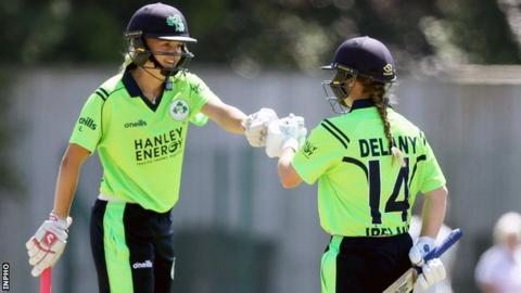 The third wicket partnership between Gaby Lewis and Laura Delany helped Ireland to a commanding win