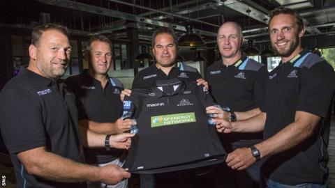 Dave Rennie and the Glasgow Warriors coaching team