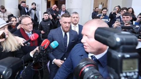 Conor McGregor leaves court