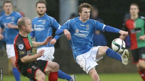 Paul McElroy has scored nine goals for Dungannon this season