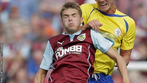 Burnley striker Jason Gilchrist