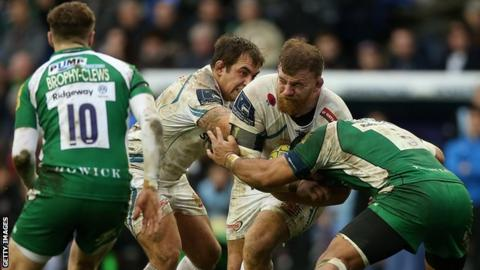 Moray Low playing for Exeter Chiefs against