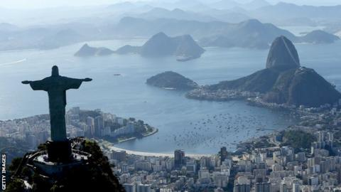 An aerial view of Rio