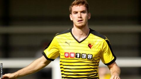 Tommie Hoban in action for Watford
