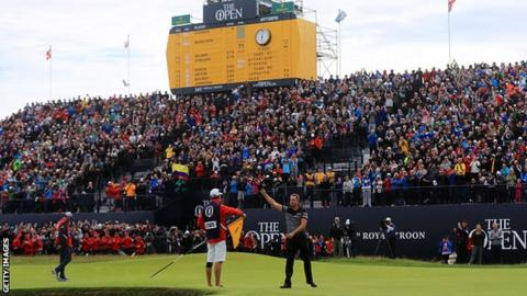 Northern Ireland Henrik Stenson wins the Open at Royal Troon