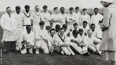 The Caribbean Cricket Club team after a match in Yorkshire