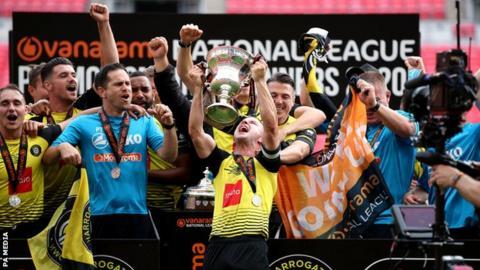 sports Harrogate celebrate promotion
