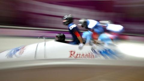 Russian four-man bobsleigh team