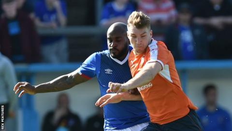 Jamal Campbell-Ryce (left) in action for Carlisle