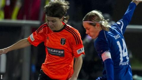Kat Lindner in action for Glasgow City in the Champions League in 2011