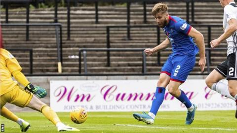 Shaun Rooney scores for Inverness against Ayr United