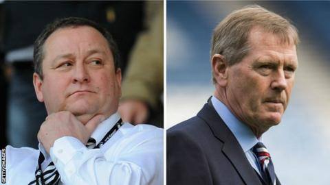 Mike Ashley and Dave King
