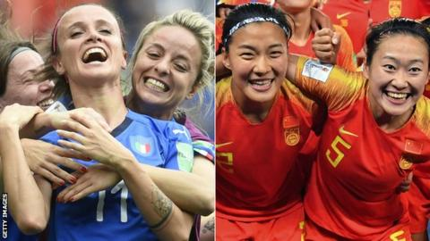 Women's World Cup 2019: Italy v China - Chinese want to 'gain recognition' with win