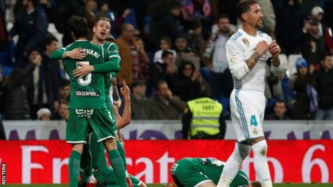 Real Madrid knocked out of Spanish Copa del Rey