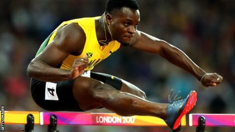 Jamaica hurdler Omar McLeod