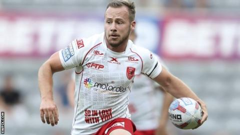 Adam Quinlan in action for Hull KR