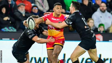 Dragons wing Ashton Hewitt is hoping to make an impact against Ospreys on New Year's Eve