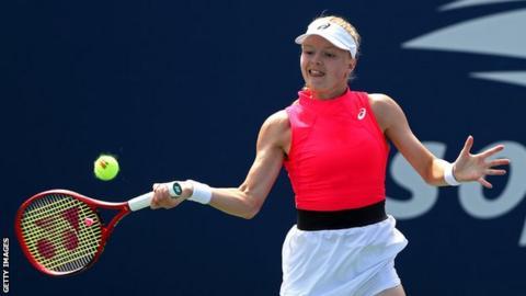 British number three tennis player Harriet Dart