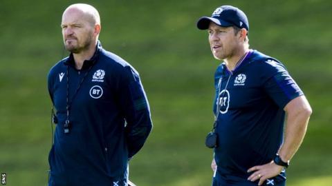 Scotland head coach Gregor Townsend and Matt Taylor