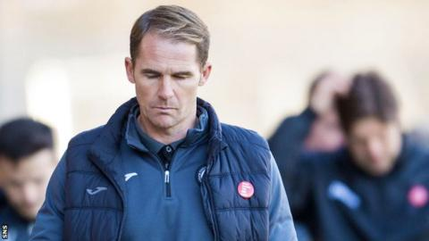 Alan Archibald after Partick Thistle's defeat to Ross County