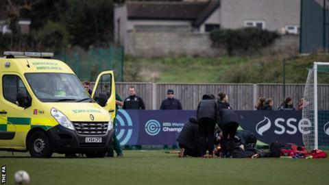 Ambulance on the pitch