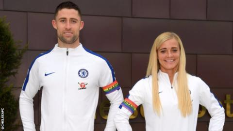 Chelsea's Gary Cahill and Katie Chapman
