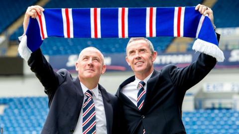 Mark Warburton and Davie Weir