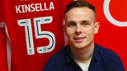 Walsall right-back Liam Kinsella is the son of former Charlton, Villa, West Brom, Saddlers and Republic of Ireland international midfielder Mark Kinsella