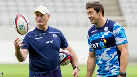 Vern Cotter and Nathan Hines