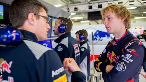 Toro Rosso's F1 driver Brendon Hartley