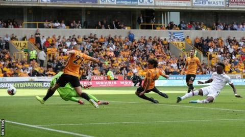 Tammy Abraham scores for Chelsea against Wolves
