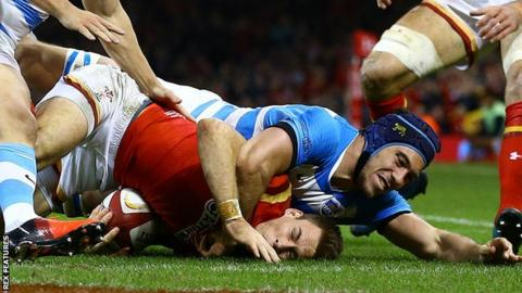 Wales back Liam Williams scored against Argentina when the sides met in Cardiff in November 2016
