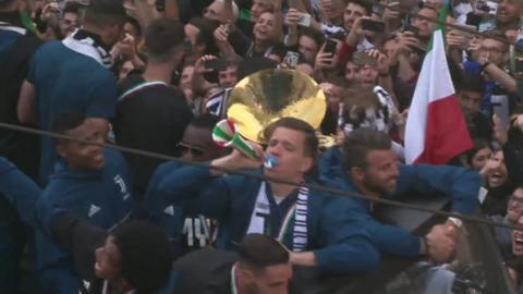 Juventus victory parade