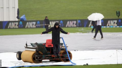 No play was possible on the final day in Hamilton