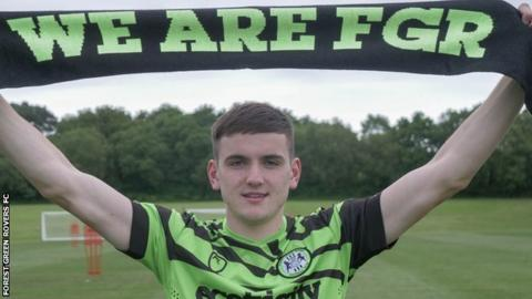 Liam Kitching helped Harrogate Town win promotion to English football's fifth tier in 2017-18