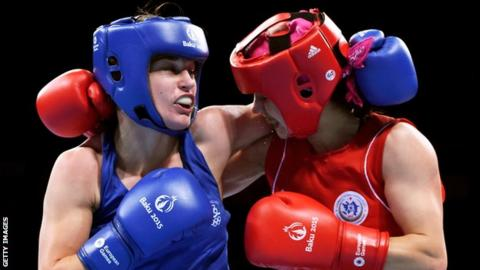 Katie Taylor came close to suffering a first defeat since 2011