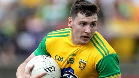 Jamie Brennan fired over three points for Donegal in Sunday's victory in Ennis