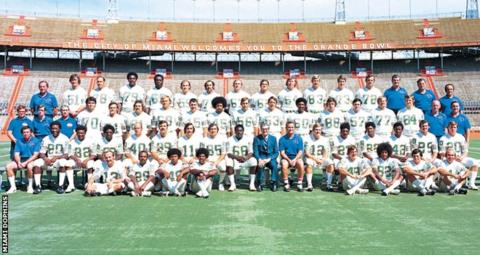 Miami Dolphins team photo 1972