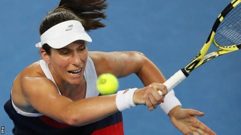 Midnight run: Muguruza edges Konta at 3 a.m. in Australia