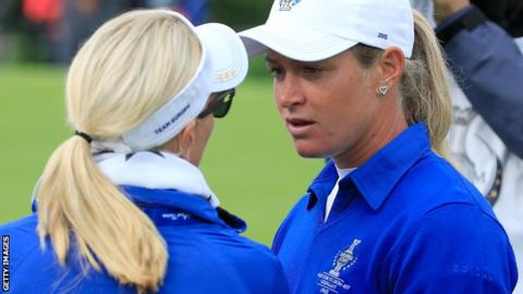 Suzann Pettersen and Karin Coch