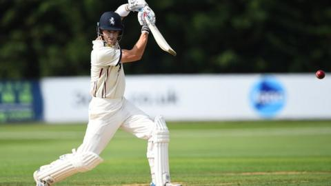 Joe Denly drives while playing for Kent