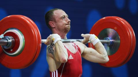 Gareth Evans finished fifth in the men's 62kg event at Glasgow 2014