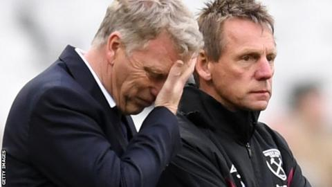 David Moyes and Stuart Pearce at West Ham