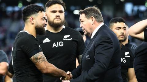Steve Hansen with the All Blacks